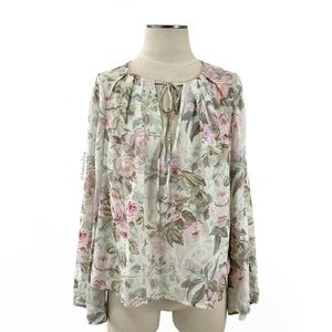 Majorelle- Floral Long Sleeved Blouse Size Small